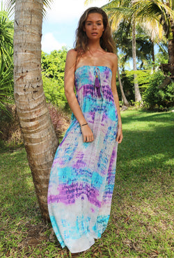 SNAKE SHADOW BALI BANDEAU DRESS