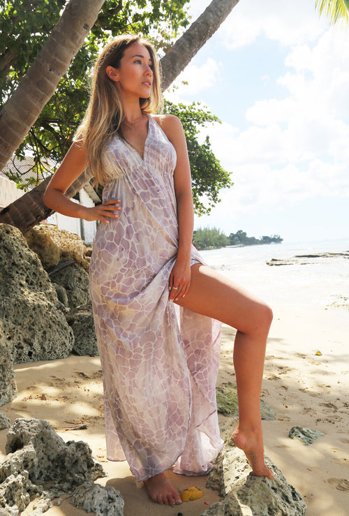 LAVENDER PEBBLES IBIZA DRESS