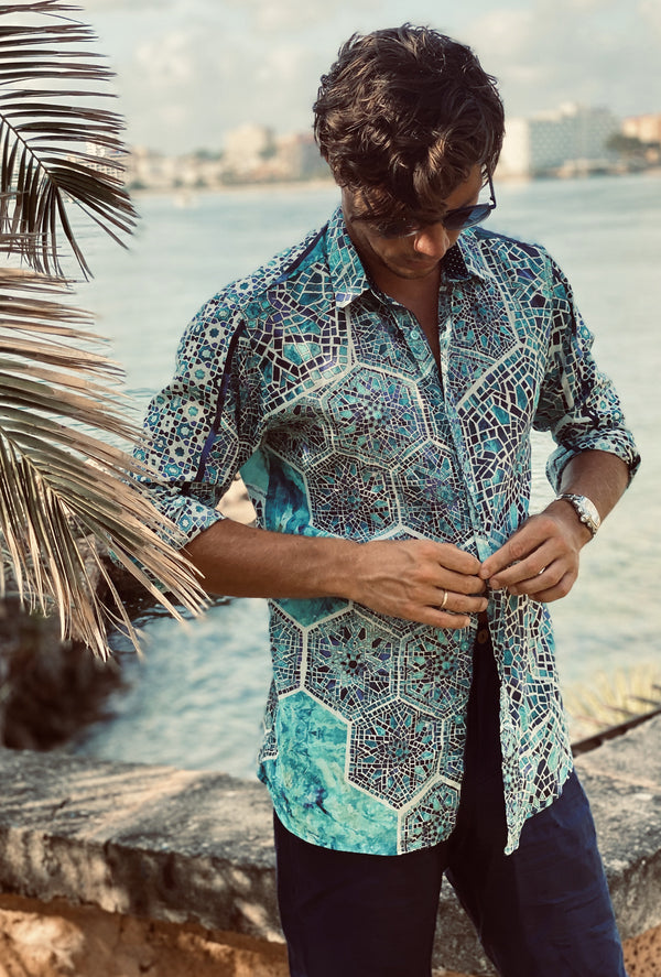 TURQUOISE TREASURE MENS SHIRT