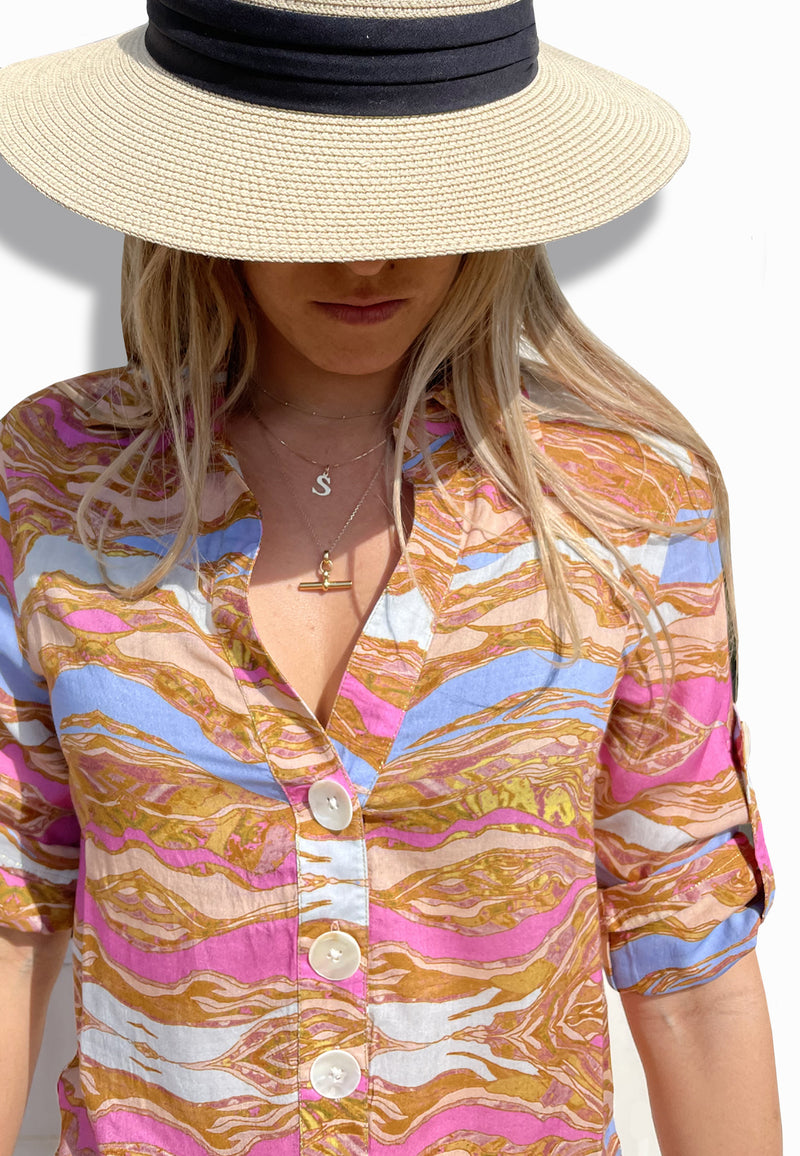 MOROCCAN SANDS BEACH SHIRT