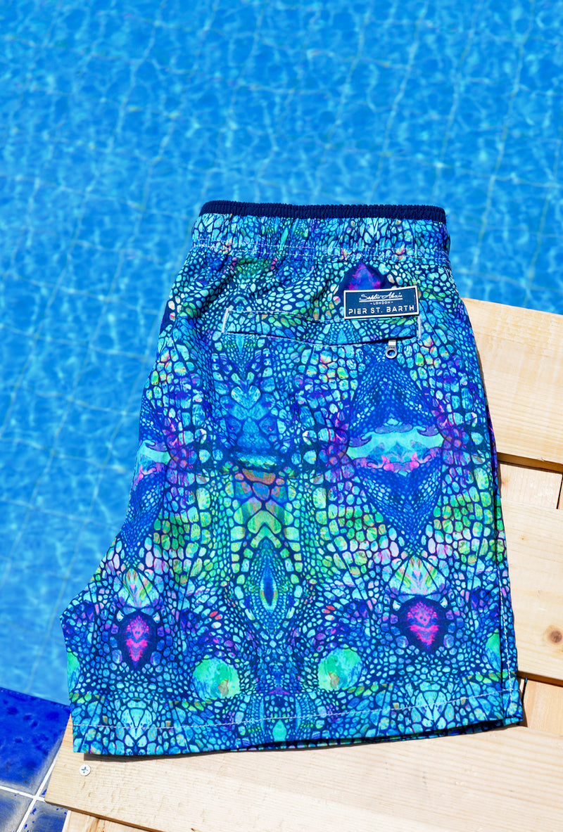 BLUE IGUANA SWIM SHORTS