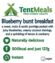 Blueberry burst breakfast - 500 kcal