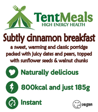 Subtly cinnamon breakfast - 800 kcal ***25% off: short Best Before date***