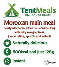 Moroccan mango main meal - 500 kcal