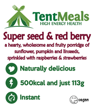 Super seed & red berry breakfast - 500 kcal