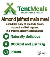 Almond Jalfrezi main meal - 800 kcal. 25% off due to possible recipe error