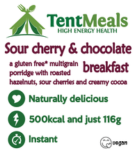 Sour Cherry and Chocolate Breakfast - 500 kcal  ***25% off: short Best Before date: August 2021***