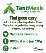 Thai Green Curry main meal - 800 kcal