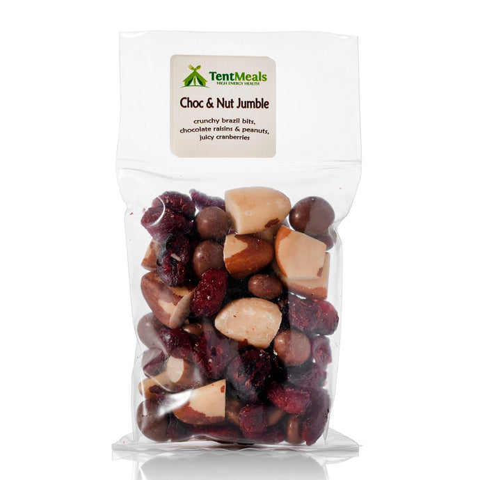 Choc and nut jumble trail snack