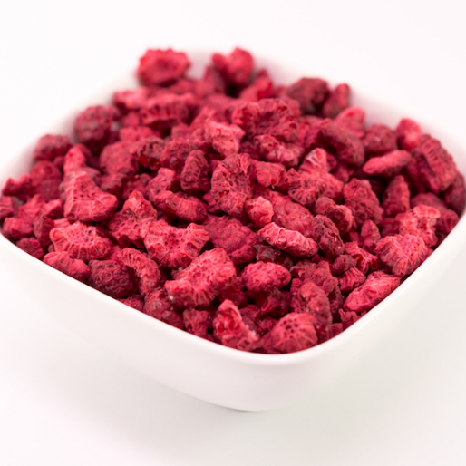 Freeze dried raspberry pieces, 200g