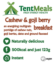 Cashew and Goji Berry Breakfast - 500 kcal