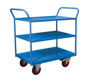 Blue Shelf Trolley