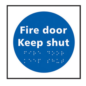 Braille Fire Door Sign