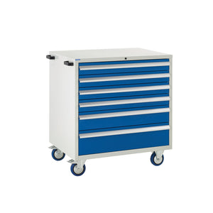 Mobile Tool Storage Cabinet - Blue Drawers