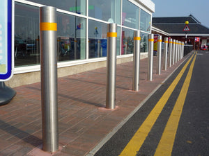 Metal Bollards in Car Park