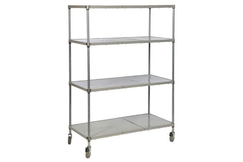 Heavy-Duty Solid Polymer Cold Room Shelving Units - 460mm Depth
