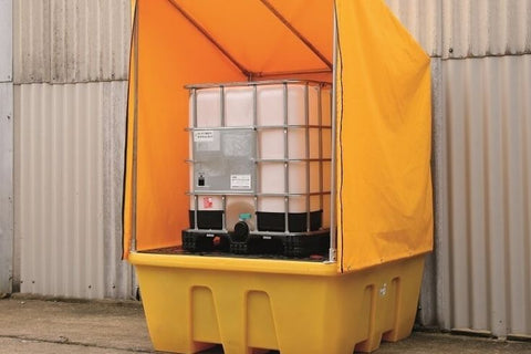 Single IBC Spill Bund with Framed Cover - 1260L