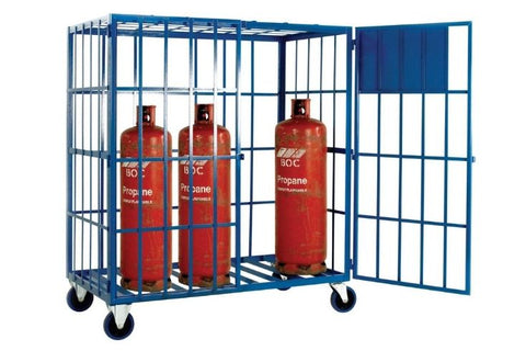 Mobile Gas Cage for 8 Propane Cylinders