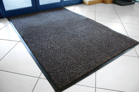 Dura-Plush Black/Grey Fire-Resistant Door Mat