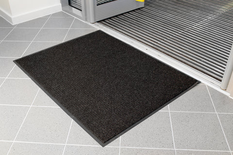 CottonAbsorb Washable Black Door Mat