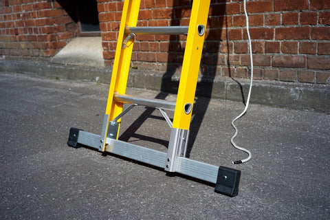 Fibreglass ladders on the ground