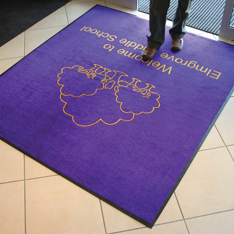 Purple School Logo Mat