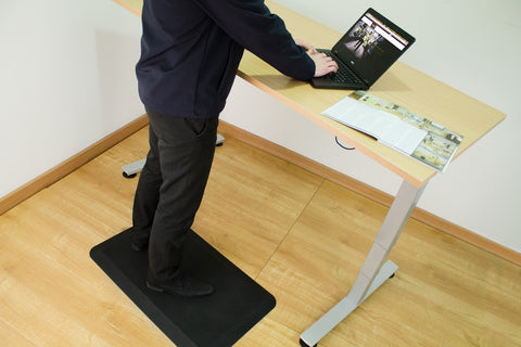 Standing Desk with an Anti-Fatigue Mat