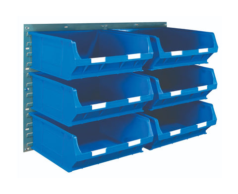 Louvre Panel and Parts Bin Kit with 6 TC6 Bins blue horizontal