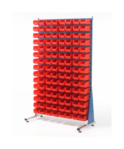Louvre Panel Stand and Container Starter Kits - Single Sided TC2 red