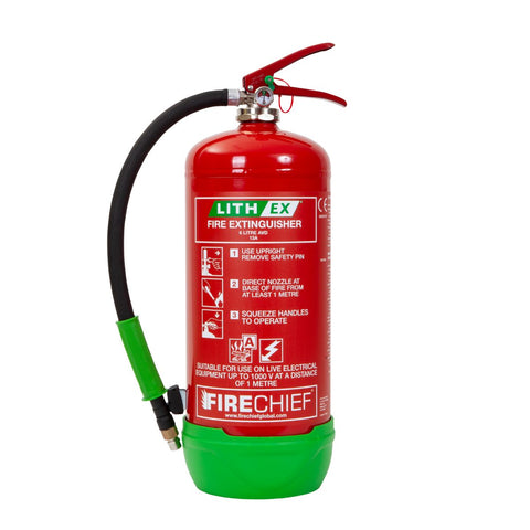 6 Ltr Lithium Battery Fire Extinguisher FLE6