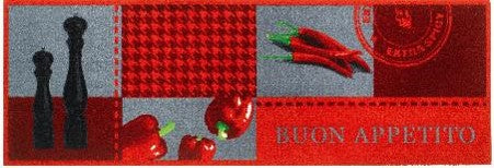 Red Peppers Kitchen Runner