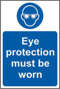 Eye protection must be worn prohibition sign