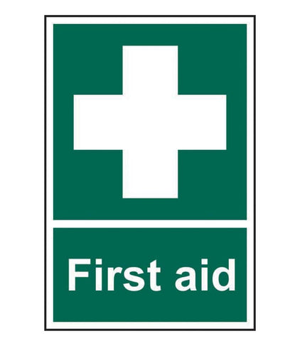 Standard First Aid Safety Sign