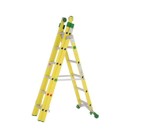 Fibreglass combination ladder