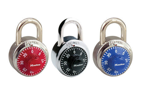coloured dial combination padlock
