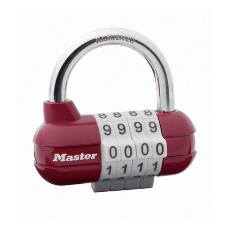 Colour Coated Combination Loop Padlock