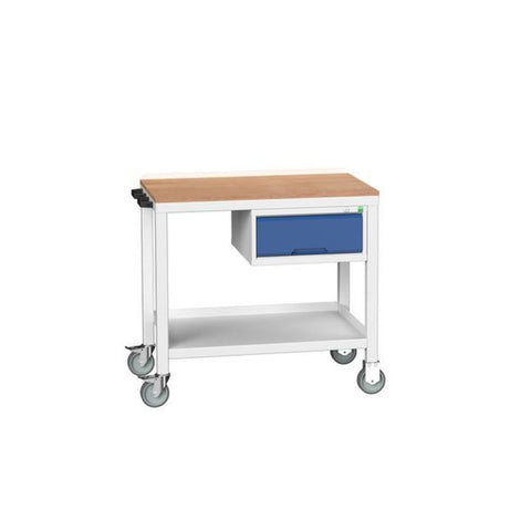 Verso mobile Workbench With 1 Drawer blue