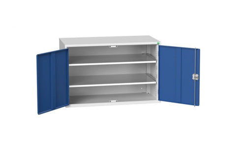 Freestanding Metal Double Door Cabinets with 2 Shelves 800mm (H) x 1300mm (W) x 550mm (D)