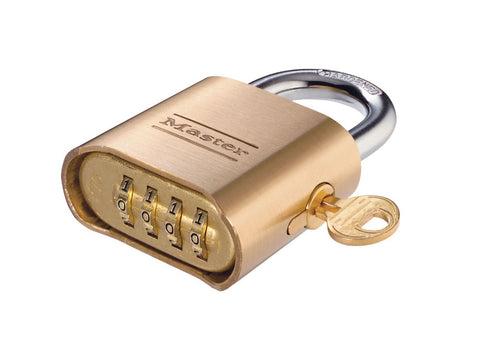 Brass Combination Padlock with Override Key