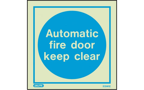 Automatic Fire Door - Photoluminescent Safety Signs