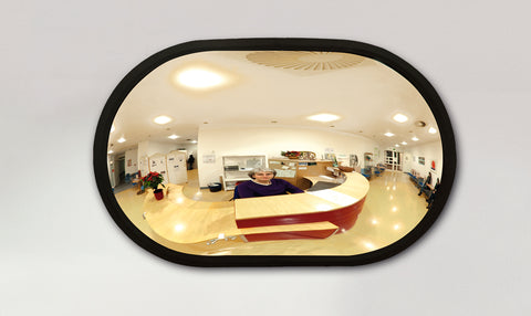 Indoor Oval Shaped Convex Observation Mirror
