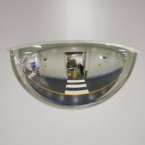 180 degree wall mounted convex mirror