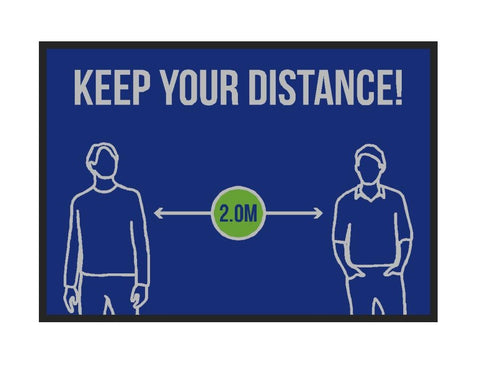 Keep Your Distance Welcome Mats