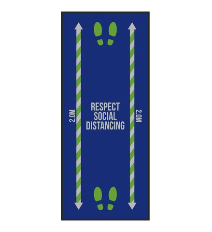 Respect Social Distancing Floor Mat (85cm x 200cm)