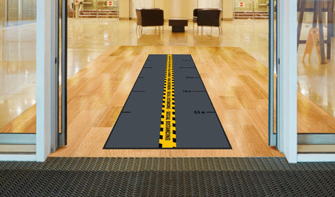 Social Distancing Floor Mats with Distance Markings (115cm x 300cm)