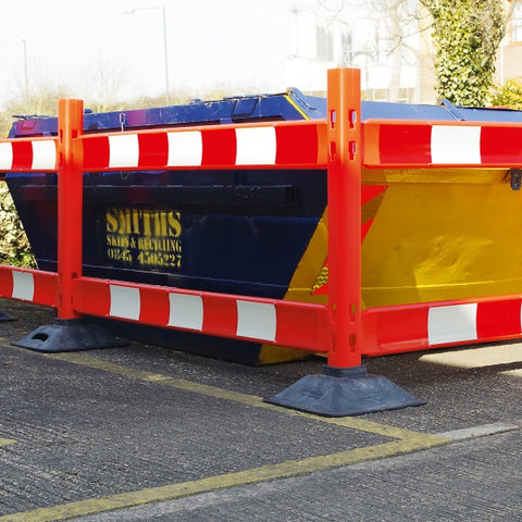 Temporary Barrier Board System in use