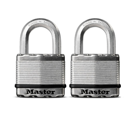 Keyed Alike Pair - High Security Hex Shackle Padlock