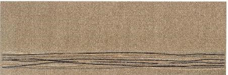 Beige Sketches Kitchen Runner