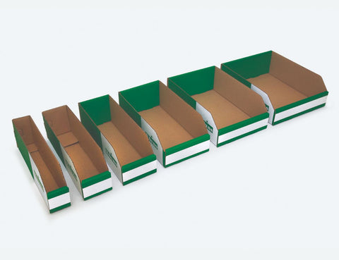 100mm High Cardboard Parts Bins - 300mm Long (50 pcs)