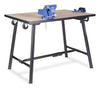 Folding Workbench with Handles, Wheels and Vices - 300kg Load